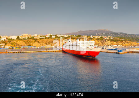 Ferry in the port of Rafina in Athens. - Stock Photo