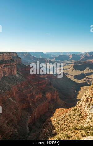 Rock formations, South Rim, Grand Canyon, Grand Canyon National Park, Arizona, USA - Stock Photo
