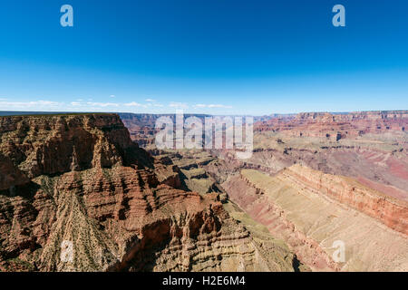 View of canyon landscape, South Rim, Grand Canyon National Park, Arizona, USA - Stock Photo