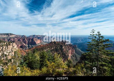 View of North Rim, Grand Canyon National Park, Arizona, USA - Stock Photo