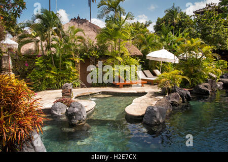 Indonesia, Bali, Kuta, Poppies Gang 1, Poppies Cottages, swimming pool - Stock Photo