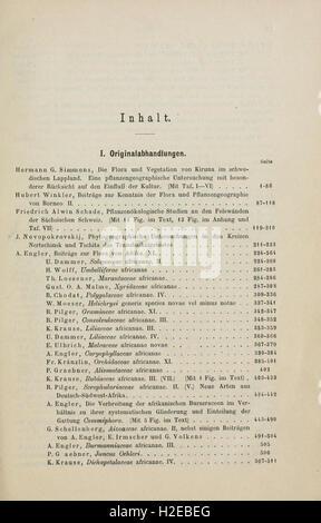 Botanische Jahrbücher fur Systematik, Pflanzengeschichte und Pflanzengeographie - Stock Photo