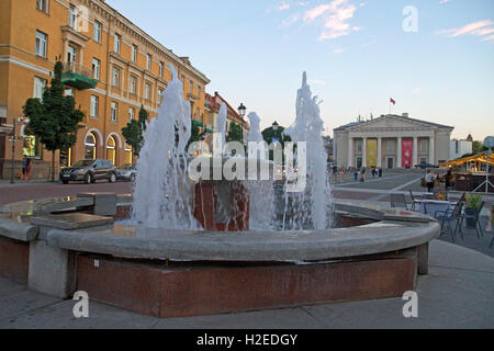 Town Hall Square in Vilnius - Stock Photo