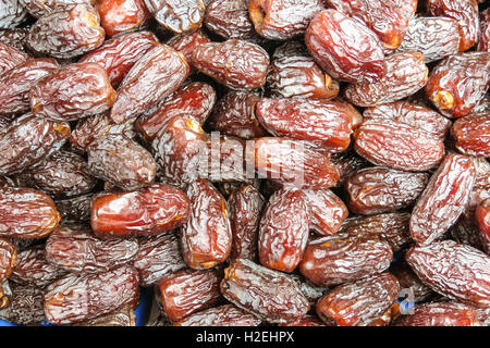 The famous oriental market. Typical dates in Istambul, Turkey - Stock Photo