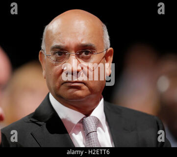 Liverpool, Uk. 27th September, 2016. Keith Vaz Labour Party Labour Party Conference 2016 The Acc Liverpool, Liverpool, - Stock Photo