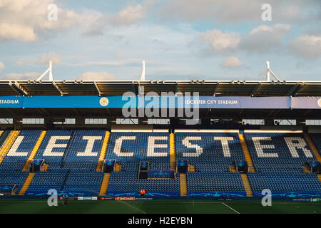Leicester, UK. 27th Sep, 2016. King Power Stadium (Leicester) Football/Soccer : A general view of King Power Stadium - Stock Photo