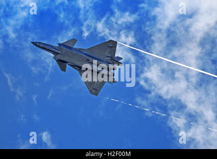 Beijing, China. 28th Oct, 2016. This undated file photo shows China's domestic-built J-20 stealth fighter which - Stock Photo