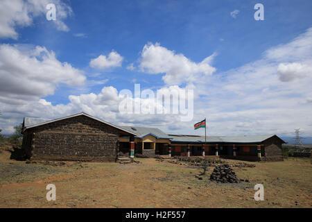 Kajiado. 28th Oct, 2016. Photo taken on Oct. 28, 2016, shows Olgumi primary school in Kajiado county, Kenya. Located - Stock Photo