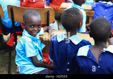 Kajiado, Kenya. 28th Oct, 2016. A student smiles at Olgumi primary school in Kajiado county, Kenya, on Oct. 28, - Stock Photo