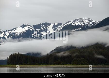 Landscape of Scenery Cove, Thomas Bay, Petersburg, Southeast Alaska. Thomas Bay is located in southeast Alaska. - Stock Photo