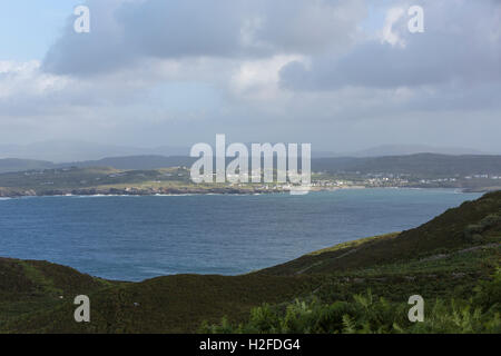 Horn Head overlooking Dunfanaghy Bay from Horn Head, County Donegal, Ireland - Stock Photo