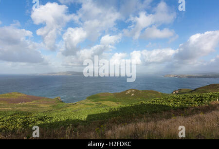 Dunfanaghy Bay from Horn Head in a sunny day, County Donegal, Ireland - Stock Photo