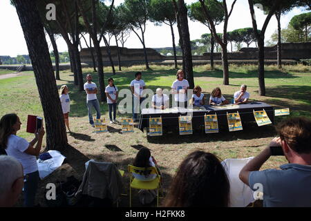 Rome, Italy. 27th Sep, 2016. Press conference of presentation of the second Stefano Cucchi Memorial with presentation - Stock Photo