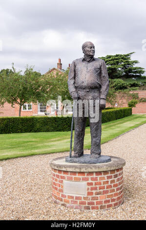 Statue of John Raleigh Chichester-Constable, 1927-2011, Burton Constable Hall, Skirlaugh, East Riding, Yorkshire, - Stock Photo