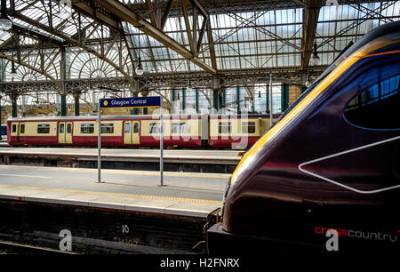 Glasgow Central Station - the major mainline rail terminus in Glasgow, Scotland - Stock Photo