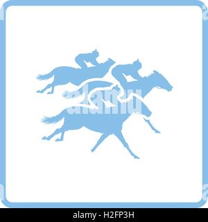 Horse ride icon. Blue frame design. Vector illustration. - Stock Photo