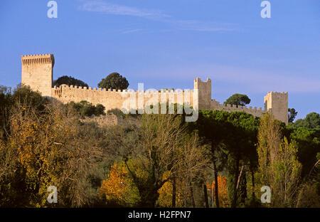 Castle of Castiglione del Lago, Umbria, Italy - Stock Photo