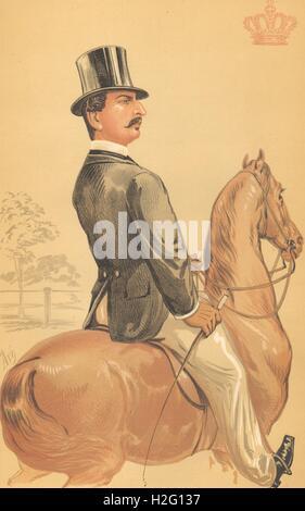 SPY CARTOON. Prince Teck 'The most popular of princes he has m..'. Germany. 1870 Stock Photo
