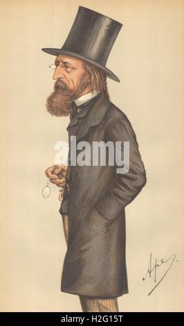 VANITY FAIR CARTOON. Alfred, Lord Tennyson 'The Poet Laureate'. Writers. 1871 Stock Photo