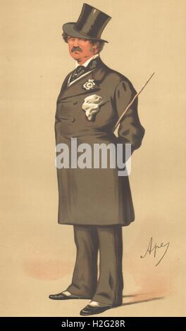 SPY CARTOON. Maj-Gen Lord Alfred Henry Paget 'The Clerk Marshal'. Staffs. 1875 Stock Photo