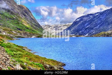 View Of Djupvatnet Lake Lying Metres Above Sea Level In - Metres above sea level