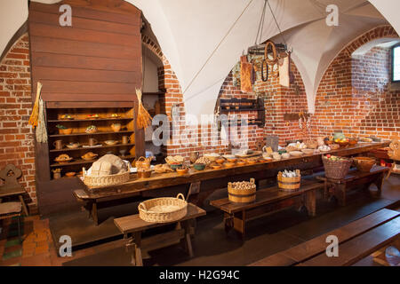 poland malbork castle interior feast at medieval convent kitchen in high castle museum