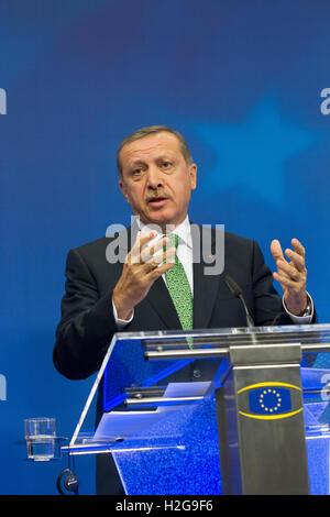 recep tayyip erdogan turkish President of Turkey - Stock Photo
