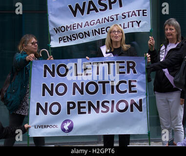 'Waspi' demonstrators at Labour Party Annual Conference. A group of women disadvantaged by changes to pension rights - Stock Photo