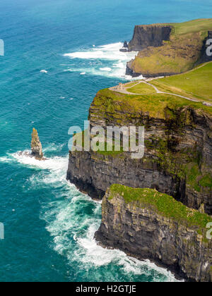 O'Brian's Tower, lookout tower on Cliffs of Moher, County Clare, Ireland - Stock Photo
