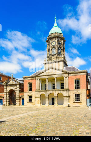 The Bedford Tower in the Great Courtyard of Dublin Castle, Ireland - Stock Photo