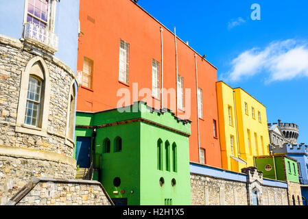 Colourful walls of the State Apartments at Dublin Castle, Ireland - Stock Photo