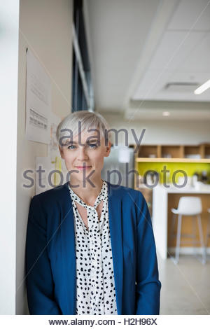 Portrait confident female architect in office - Stock Photo