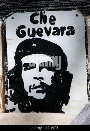 Street Art: ein Portrait von Che Guevara, Spanien. - Stock Photo