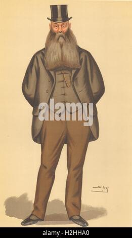 VANITY FAIR SPY CARTOON. Sir John Henry Kennaway 'Devonshire'. Devon. Spy. 1886 - Stock Photo