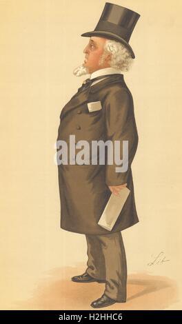 VANITY FAIR SPY CARTOON. Mr Edmund Tattersall 'Tattersall's'. Racing.By Lib 1886 - Stock Photo