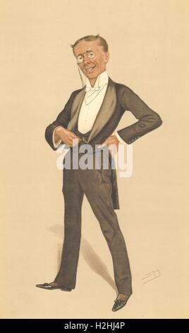 VANITY FAIR CARTOON. George Grossmith 'The Pinafore'. By Theatre. By Spy. 1888 - Stock Photo