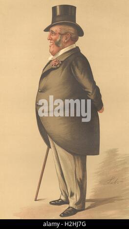 VANITY FAIR SPY CARTOON. James Brand 'telephones'. Business. By Lib. 1888 - Stock Photo
