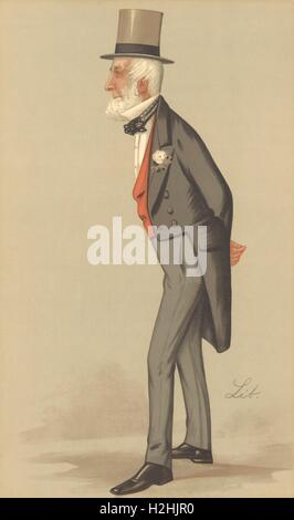 VANITY FAIR SPY CARTOON. 'Mr James Weatherby'. Horseracing administration. 1890 - Stock Photo