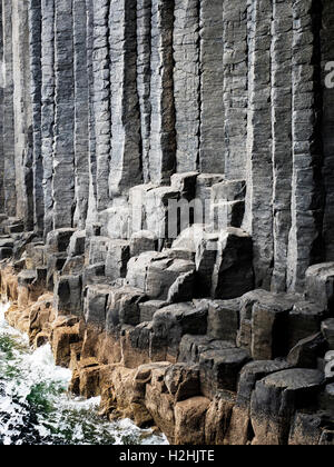 Basalt Columns in the Mouth of Fingals Cave Isle of Staffa Argyll and Bute Scotland - Stock Photo