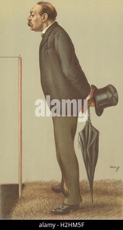VANITY FAIR SPY CARTOON. Mr Montague Shearman 'AAA'. Athletics. By wag. 1895 - Stock Photo