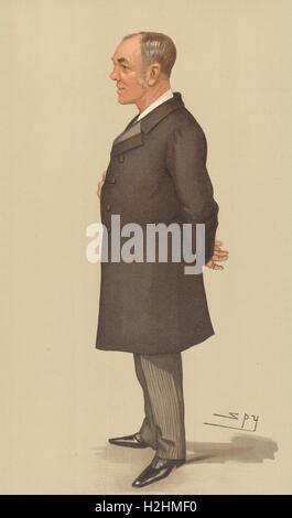 SPY CARTOON. Capt Sir Alfred Jephson 'The Imperial Institute'. Naval. Spy. 1897 Stock Photo