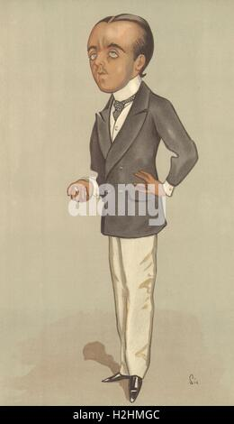 VANITY FAIR SPY CARTOON. Mr M Beerbohm 'Max'. Writers. By Sic. caricature 1897 - Stock Photo