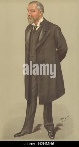 VANITY FAIR SPY CARTOON. Alfred Cooper FRCS. Prince of Wales' Surgeon. VD. 1897 Stock Photo