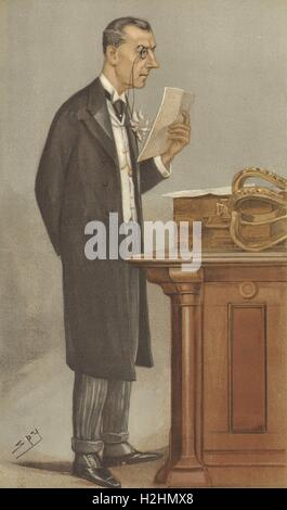 VANITY FAIR CARTOON. Joseph Chamberlain 'The Colonies'. Politics. By Spy. 1901 - Stock Photo