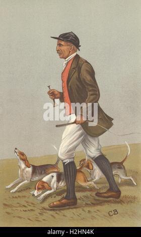 VANITY FAIR SPY CARTOON. Mr John Otho Paget 'Otho'. Fox hunters. By CB. 1902 - Stock Photo