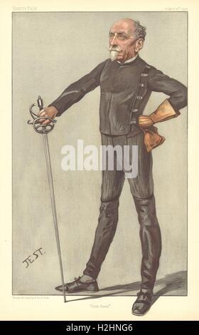 VANITY FAIR SPY CARTOON. Capt Alfred Hutton FSA 'Cold Steel'. Fencing. 1903 Stock Photo
