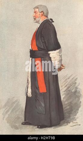 VANITY FAIR SPY CARTOON. Mr Justice TE Scrutton 'Copyright'. Law. 1911 - Stock Photo