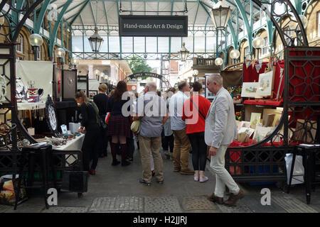 Inside Covent Garden market, London - Stock Photo