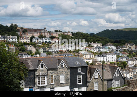A view overlooking Dartmouth, South Hams, Devon, England, UK. - Stock Photo