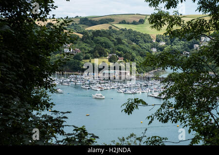 A view overlooking Dartmouth and the River Dart, South Hams, Devon, England, UK. - Stock Photo